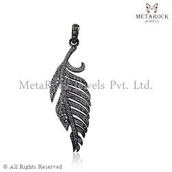 Feather Angle Wings Diamond Pendant