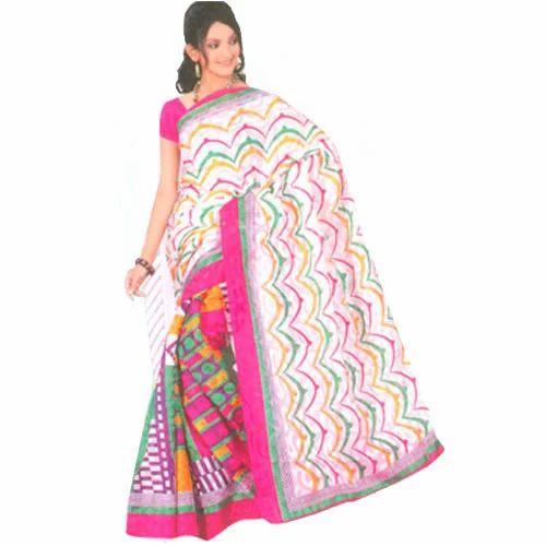 392bc2c110 Printed Bengali Cotton Saree, प्रिंटेड बंगाली सूती ...