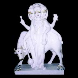 White Marble Dattatreya Moorti