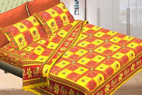 Jaipuri Kantha Work Bed Sheets Set