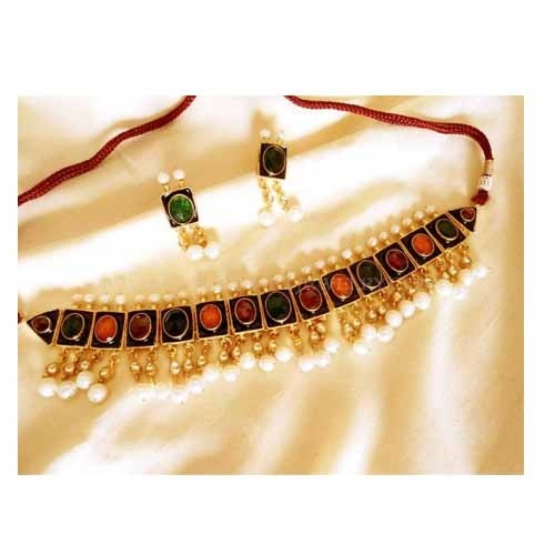 22k Gold Plated Handmade Kundan Jewelry at Rs 6500 1 set Kundan