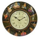 Painted Wooden Clock