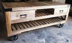 Industrial Wooden Entertainment Unit