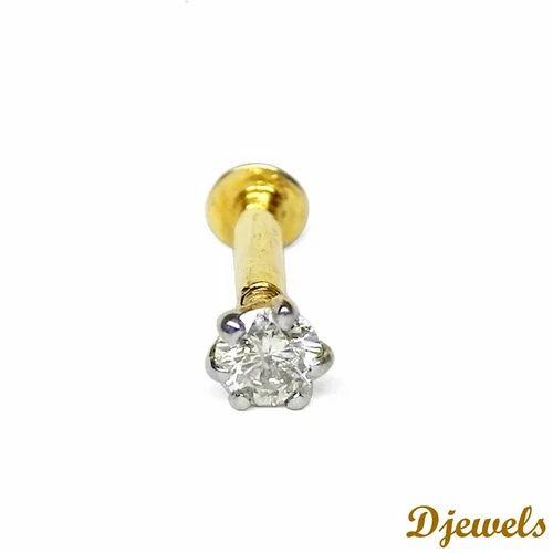 Diamond Gold Nose Pin At Rs 6803 Piece Karol Bagh Delhi Id