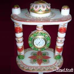 Minakari Marble Clock