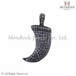 Diamond Horn Charm Pendant