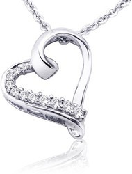 Diamond Sterling Silver Pendant