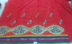 Embroidered Chanderi Fabric