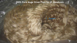 Pure Muga Silk Sliver Tops Grade AA Fibers