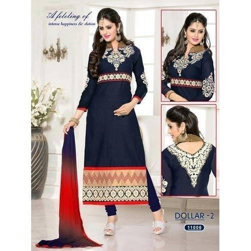 0383812248 Embroidered Ladies Suits. Embroidery on suits. Request Callback. Black  Embroidery Suit