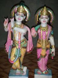 Crafted Radha Krishna Statue