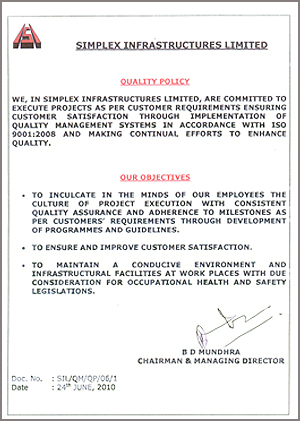 Simplex Infrastructures Limited - Service Provider from