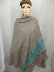 Pure Cashmere hand Woven Needle Work Border Shawls