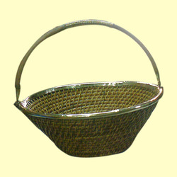 Wicker Deep Round Fruits Basket, Size/dimension: 14 Inch