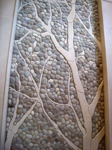 Stone Wall Mural Marble Stone Artifacts Design Mural Art