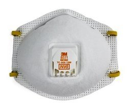 White 3M Particulate Respirator 8511 N95