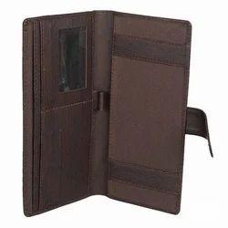 Cheque Book Brown - Leatherite