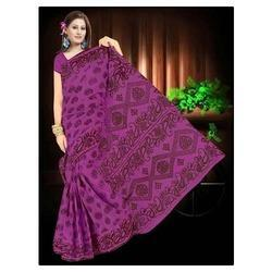 Cotton Ladies Printed Sarees, With Blouse Piece