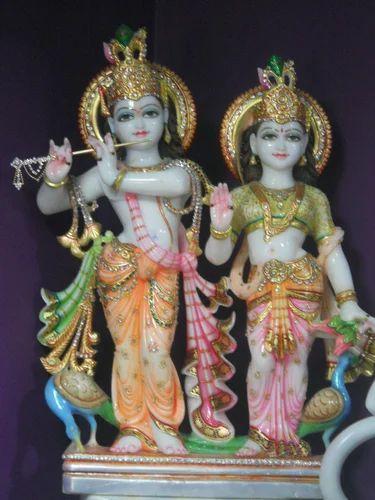 Radha Krishna Marble Moorti Marble Iskcon Radha Krishna