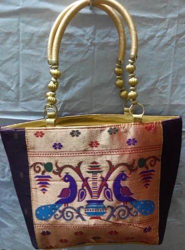 Large Paithani Handbag