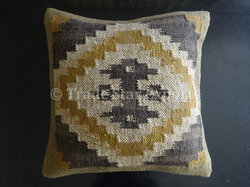 Indian Hand Woven Kilim Cushion Cover