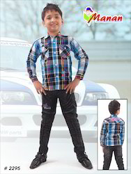 Boys Full Sleeves Checked Shirts
