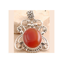Smooth Red Onyx Pendant