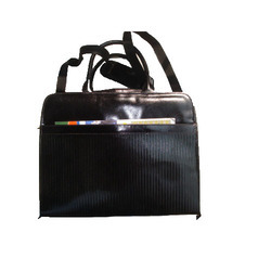 Shoulder And Handle Both Type Leather Ladies Laptop Bag, Packaging Type: Single Poly Pack