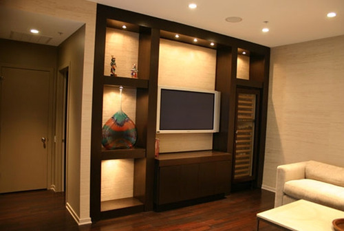 LCD Wall Units And Cabinets - Wooden LCD Wall Cabinet