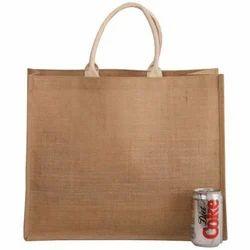 Plain Brown Jute Shopping Bag, Size: 17 X 14 + 8 Ag