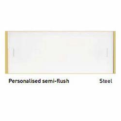 Personalized Semi Flush Steel