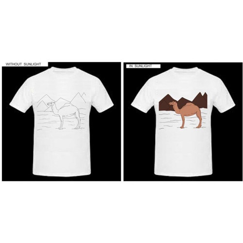 618429e3a4b9 Color Changing Camel Printed T-Shirt at Rs 299  piece(s ...