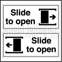 Push Pull Amp Exit Signs Stickers Amp Labels 140041 Slide To