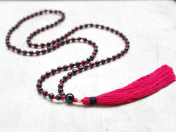Black Onyx Tassel Necklace