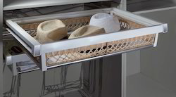 Soft Close Glass Rattan Basket