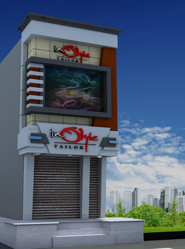 Acp Front Elevation Showroom Design : Shopping design exterior pixshark images