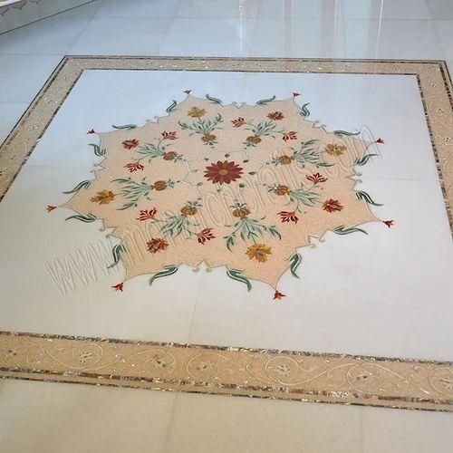 Marble Inlay Floorings - Marble Inlay Floor Manufacturer From Jaipur