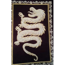 Zari Embroidery Dragon Wall Hanging