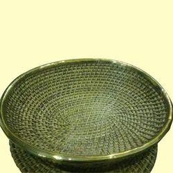 Flat Fruit Cane Basket