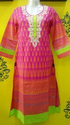 Thread work Cotton Kurti