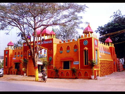 Temple Design Decorative Items Ramyam Dream World Manufacturer Gorgeous Pandal Design And Decoration