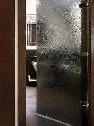 Textured Glass Door