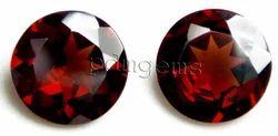 Garnet Faceted Round Gemstone For Earrings