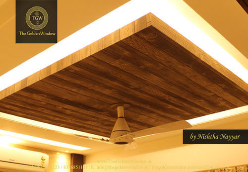wooden false ceiling the golden window service