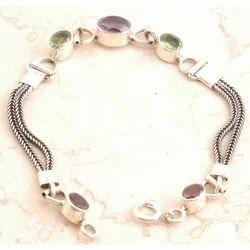 Little Amethyst Bracelet in 925 Sterling Silver