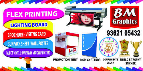 Advertising Services Flex Printing Sign Board Vinyl