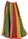 Colorful Striped Designer Cotton Lehenga Skirt