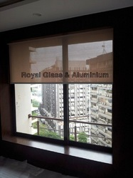 2 Track Domal Aluminum Sliding Window