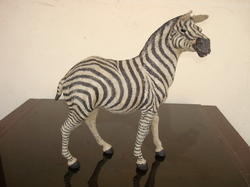 Handmade Zebra Stuffed Jute Zebra Statue Exporter From Indore