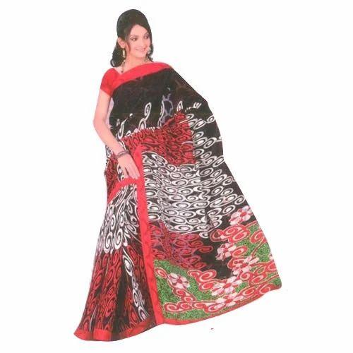 33e9c5e67b3adf Printed Bengali Cotton Saree